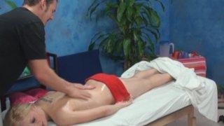 Alyssa seduced and fucked by her massage therapist on hidden camera Thumbnail