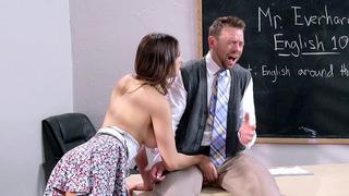 Ashley Adams seduced her teacher and sucked his prick Thumbnail