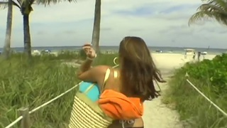 Beautiful day at the beach, with my dick in her hands