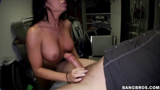 Tan Nikki Delano drilled and blowing cock
