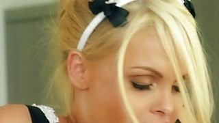 Big boobs blondie maid Jesse Jane fucked hard by her master Thumbnail