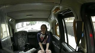 Horny passenger gets her pussy screwed to off her fare
