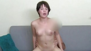 Darling sucks on guys biggest male rod hungrily Thumbnail