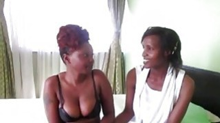 Ebony redhead Enjoying Their Time with sexy african friend Thumbnail
