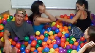 Game of balls party with college teens turns into group sex Thumbnail