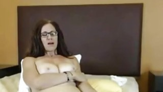 Big Tit Milf toying hairy pussy Thumbnail
