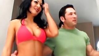 Brunette bimbo crazy hardcore anal fuck double penetration play Thumbnail