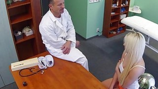 Blonde with problem in sex fucks doctor Thumbnail
