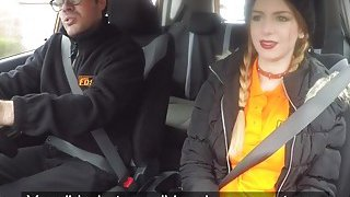 Busty babe bangs for drivers licence Thumbnail
