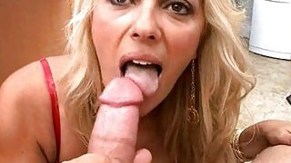 Nasty milf takes off pants to get muff stimulated Thumbnail