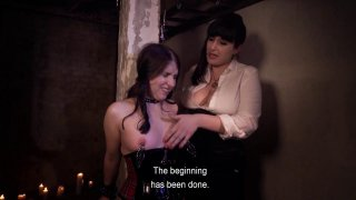 Sweet little brunette is punished by her lesbian MILF lover Thumbnail