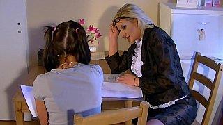 Teen babe seduced by her female tutor Thumbnail